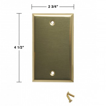 spec-<PRE>Switch Plates Bright Solid Brass Single Blank </PRE>