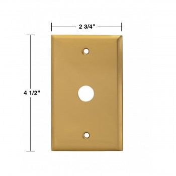 spec-<PRE>Switch Plate Bright Solid Brass 5/8&quot; ID </PRE>