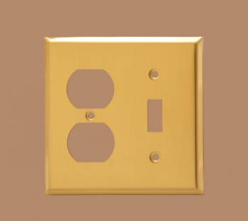 Switch Plates Bright Solid Brass Toggle Outlet Switch Plate Wall Plates Switch Plates