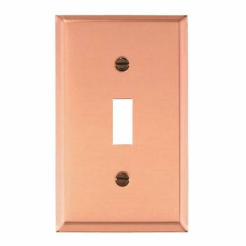 Switch Plate Solid Copper Single Toggle/Dimmer 27066grid