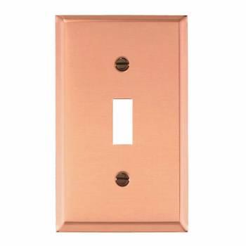 Single Toggle Switchplate Bright Copper