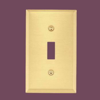 Switch Plate Brushed Brass Single ToggleDimmer Switch Plate Wall Plates Switch Plates
