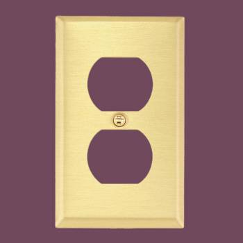 <PRE>Switch Plate Brushed Brass Single Outlet </PRE>zoom2