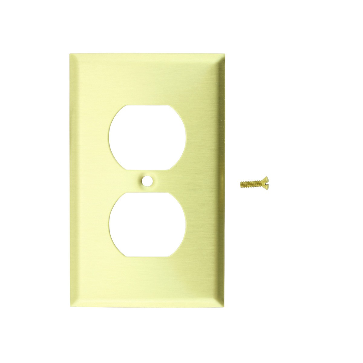 Switch Plate Brushed Brass Single Outlet Switch Plate Wall Plates Switch Plates