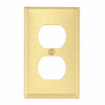 <PRE>Switch Plate Brushed Brass Single Outlet </PRE>zoom1