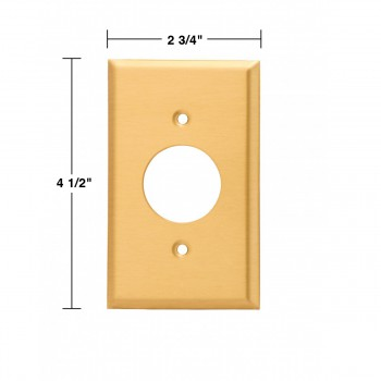 spec-<PRE>Switch Plate Brushed Solid Brass Single Receptacle </PRE>