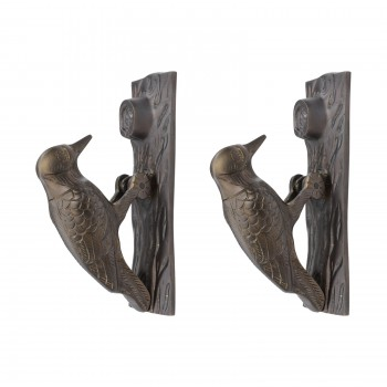<PRE>Door Knocker Woodpecker Antique Brass Vintage 6.5 inch H Pack of 2 </PRE>zoom1
