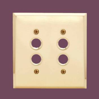 <PRE>Switch Plate Brushed Solid Brass Double Push Button </PRE>zoom2