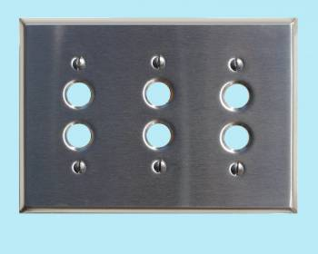 <PRE>Switch Plate Satin Stainlees Steel 3 Push Button </PRE>zoom2