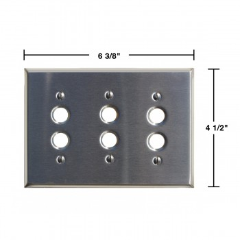 spec-<PRE>Switch Plate Satin Stainlees Steel 3 Push Button </PRE>