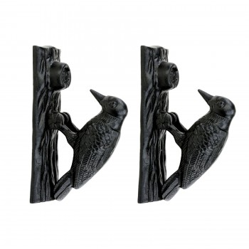 <PRE>Door Knocker Black Cast Iron Woodpecker 6 1/2 inch H 2 inch W Pack of 2 </PRE>zoom1
