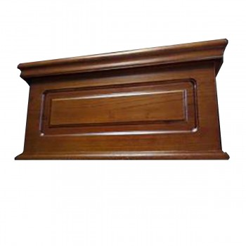 spec-<PRE>Light Mahogany Wood Raised Panel Tank for High Tank Toilet  </PRE>