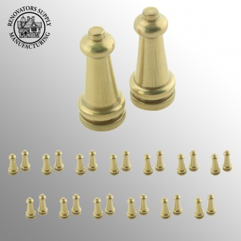 <PRE>13 Pairs Stair Carpet Rod Tower Finial Brass Decorative Tip </PRE>zoom2
