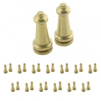 <PRE>13 Pairs Stair Carpet Rod Tower Finial Brass Decorative Tip </PRE>zoom1