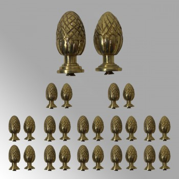 <PRE>13 Pairs Stair Carpet Rod Finial Brass Pineapple Tip </PRE>zoom2