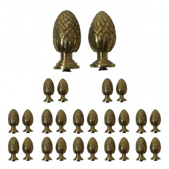<PRE>13 Pairs Stair Carpet Rod Finial Brass Pineapple Tip </PRE>zoom1