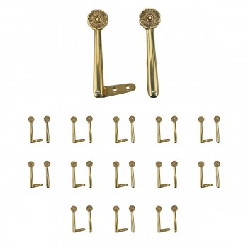 13 Pairs Carpet Clip Stair Holders Solid Brass