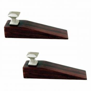 <PRE>2 Door Wedge Solid Mango Wood Satin Brass Knob Cherry </PRE>zoom1