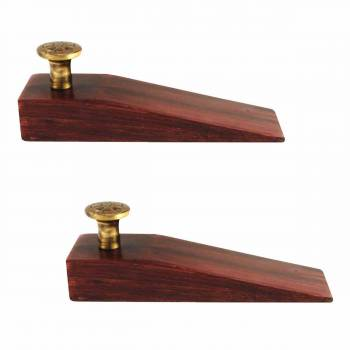 <PRE>2 Door Wedge Solid Mango Wood Antique Brass Knob Cherry </PRE>