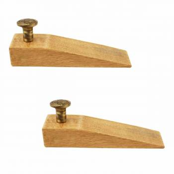 <PRE>2 Door Wedge Solid Mango Wood Antique Brass Knob Natural </PRE>zoom1