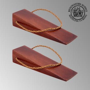 <PRE>2 Door Wedge Solid Mango Wood Leather Hanging Loop Cherry </PRE>zoom2