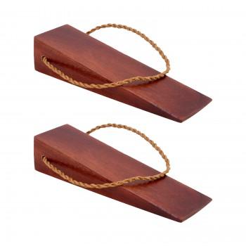 <PRE>2 Door Wedge Solid Mango Wood Leather Hanging Loop Cherry </PRE>zoom1