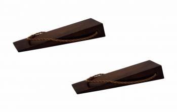 <PRE>Hardwood Doorstop Wedge - Plain Brown Walnut Finish   </PRE>zoom1