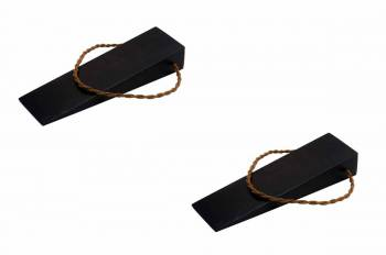 <PRE>2 Door Wedge Solid Mango Wood Leather Hanging Loop Black </PRE>zoom1