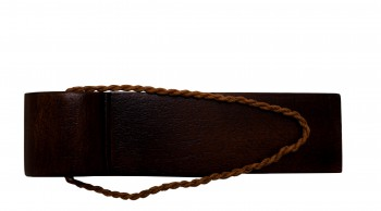 <PRE>2 Door Wedge Solid Mango Wood Leather Hanging Loop Brown </PRE>zoom3