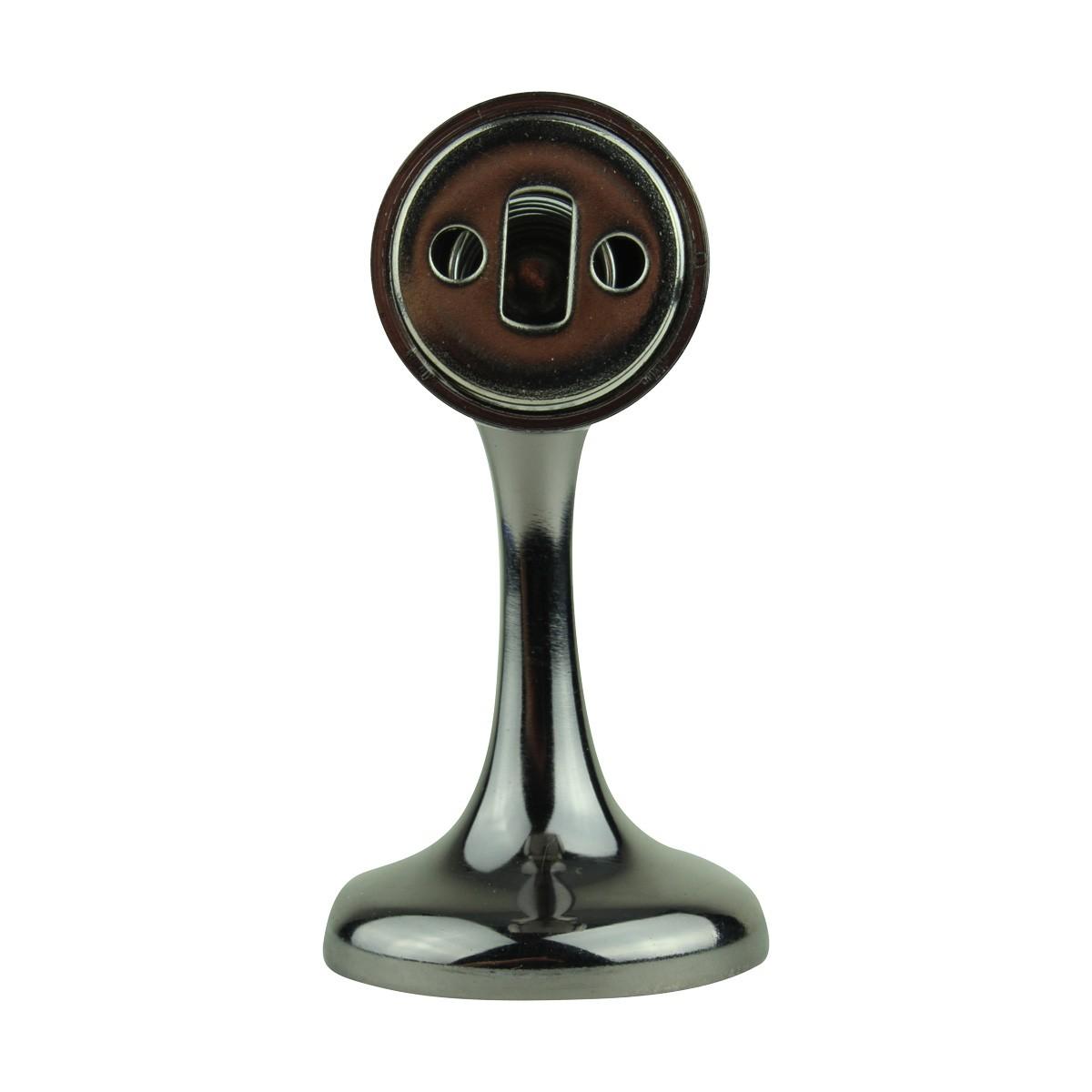 2 Magnetic Door Stop Safety Catch Black Nickel Zinc Alloy doorstop door bumper door holder