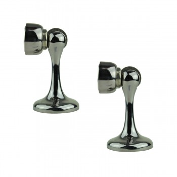2 Magnetic Door Stop Safety Catch Black Nickel Zinc Alloy