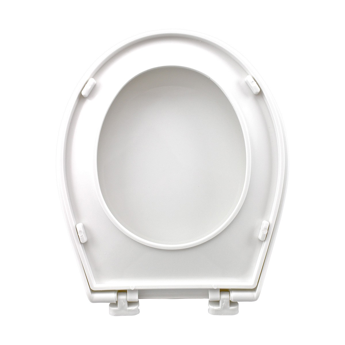Child Sized Toilet Seat Replacement White Molded Plastic set of 2 novelty decorative replacement loo commode lavatory custom unusual luxury quality standard color design pretty