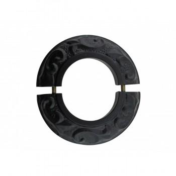 <PRE>6 Radiator Flanges Fleur De Lis Black Aluminum </PRE>zoom4