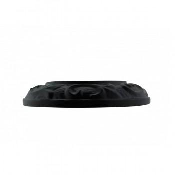<PRE>6 Radiator Flanges Fleur De Lis Black Aluminum </PRE>zoom8