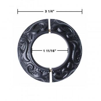 spec-<PRE>6 Radiator Flanges Fleur De Lis Black Aluminum 1 11/16&quot; ID  </PRE>