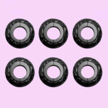<PRE>6 Radiator Flange Black Aluminum Escutcheon 1 1/4'' ID </PRE>zoom2