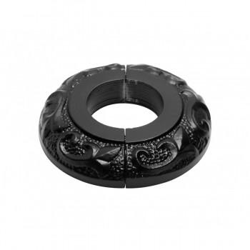 <PRE>6 Radiator Flange Black Aluminum Escutcheon 1 1/4'' ID </PRE>zoom9