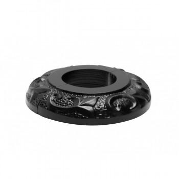 <PRE>6 Radiator Flange Black Aluminum Escutcheon 1 1/4'' ID </PRE>zoom10