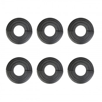 Aluminum Escutcheon Radiator Flange Black 1 14 ID Set Of 6 Radiator Flange Black Aluminum Radiator Flange Radiator Collar