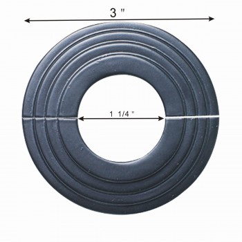 spec-<PRE>Aluminum Escutcheon Radiator Flange Black 1 1/4'' ID Set Of 6</PRE>