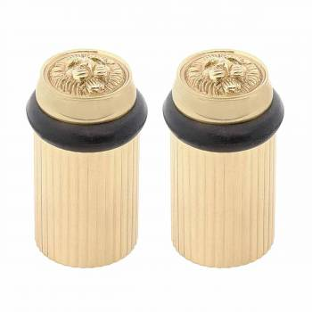 2 Brass Door Stop Floor Mount BumperLion Head Floor Stop Door Stop Door Bumper