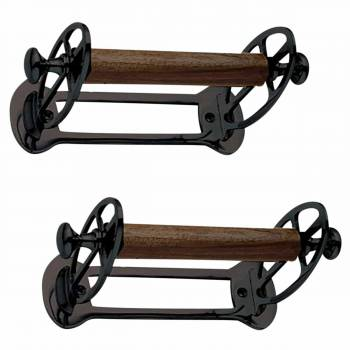 2 Vintage Toilet Tissue Holder Black Aluminum TP Holder TP Holders Toilet Paper Holder