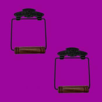 <PRE>Toilet Paper Holder Black Aluminium Victoria Tissue Holder Pack of 2</PRE>zoom2