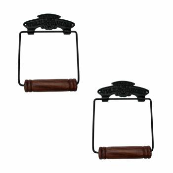 Toilet Paper Holder Black Aluminium Victoria Tissue Holder Pack of 2 TP Holder TP Holders Toilet Paper Holder