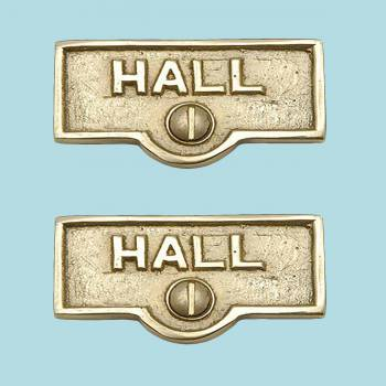 <PRE>2 Switch Plate Tags HALL Name Signs Labels Lacquered  Brass </PRE>zoom2