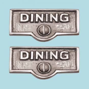 2 Switch Plate Tags DINING Name Signs Labels Chrome Brass Switch Plate Labels Switch Plate ID Labels Switch Plate Label