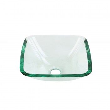 <PRE>Tempered Glass Vessel Sink with Drain, Clear Square Mini Bowl Sink Set of 2 </PRE>zoom3