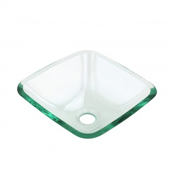 <PRE>Tempered Glass Vessel Sink with Drain, Clear Square Mini Bowl Sink Set of 2 </PRE>zoom4