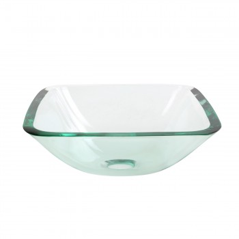 <PRE>Tempered Glass Vessel Sink with Drain, Clear Square Mini Bowl Sink Set of 2 </PRE>zoom5