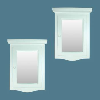 <PRE>Corner Medicine Cabinet White Hardwood Wall Mount Recessed Mirror Set of 2</PRE>